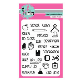 Pink & Main Clear Stamps - Planning School PM0118