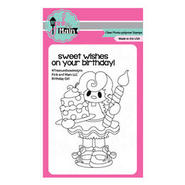 Pink & Main Clear Stamps - Birthday Girl PM0144