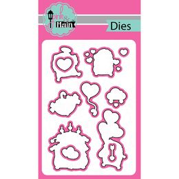 Pink & Main Dies - Hedgehugs PNM129