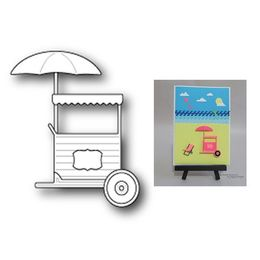 Poppystamps Die - CARNIVAL FOOD CART 1171
