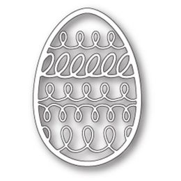 Poppystamps Dies - SQUIGGLE EGG 1712