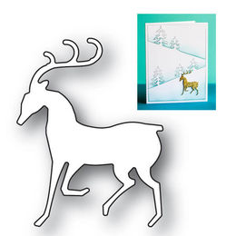 Poppystamps Dies - DASHING REINDEER 2078