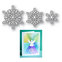 Poppystamps Dies - LINKED SNOWFLAKE TRIO 2107