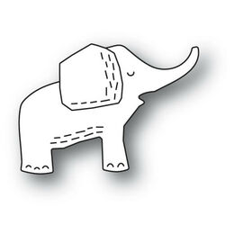 Poppystamps Dies - WHITTLE ELEPHANT 2158