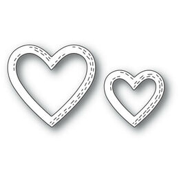 Poppystamps Dies - WHITTLE HEART FRAMES 2164