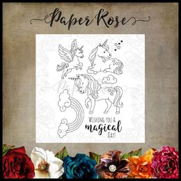 Paper Rose Clear Stamp - Unicorn Magic 17307