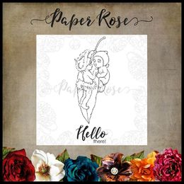 Paper Rose Snugglepot & Cuddlepie Clear Stamp - Hanging On 17313