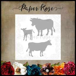 Paper Rose Dies - Cow Family 17724