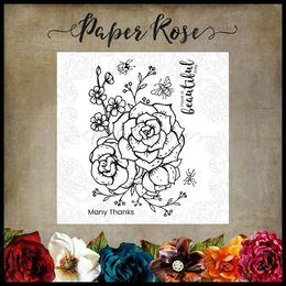 Paper Rose Clear Stamp - Beautiful Day 17880