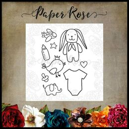 Paper Rose Clear Stamp - Baby Doodles 17895