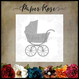 Paper Rose Dies - Baby's Pram Carriage 17898