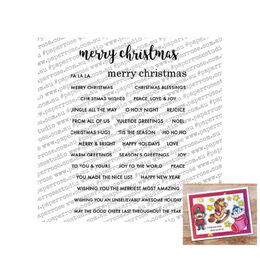"Paper Rose Clear Stamp - Christmas Sentiments (4x6"") 18225"