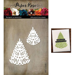 Paper Rose Dies - Christmas Fir Trees Small 20592