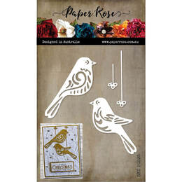 Paper Rose Dies - Bird Ornaments 20595
