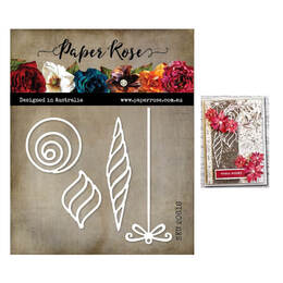 Paper Rose Dies - Modern Ornaments 20616