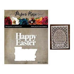 Paper Rose Dies - Happy Easter Chunky Layered 21285