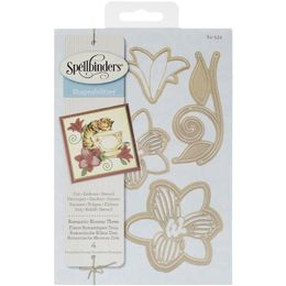 Spellbinders Shapeabilities Dies - ROMANTIC BLOOMS 3 S4534