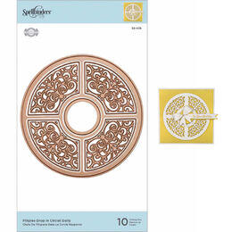Spellbinders Etched Dies - Filigree Drop In Circlet S5405