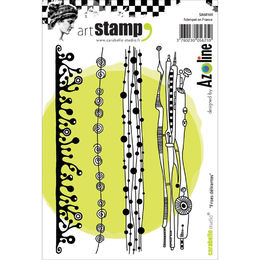 Carabelle Studio Cling Stamp A6 - Crazy Strips SA60160