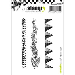 Carabelle Studio Cling Stamp A7 - Small Border Strips SA70098