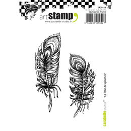 Carabelle Studio Cling Stamp A7 - The Madness Of Feathers SA70119