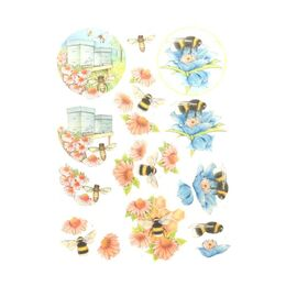 3D Diecut Decoupage Jeanines Art - Buzzing Bees - Working Bees