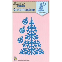 Nellie Snellen Shape Blue Dies - Christmas Tree & Baubles SDB063