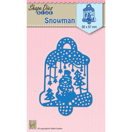 Nellie Snellen Shape Blue Dies - Scene with Snowman SDB070