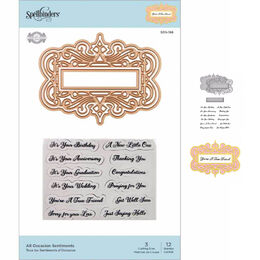 Spellbinders Flourished Fretwork Stamp & Die By Becca Feeken - All Occasion Sentiments