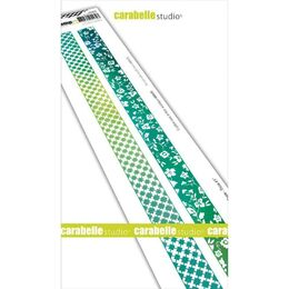 "Carabella Studio Cling Stamp Edge 2""X11.5"" - Washi Tape-Fabric #1 SED0029"
