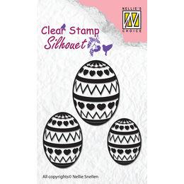 Nellie Snellen Clear Stamps Silhouette - Easter Eggs SIL028