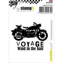 Carabelle Studio Cling Stamp - Traveling By Motorcycle SMI0078E