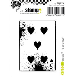 Carabelle Studio Cling Stamp - 5 Of Hearts SMI0158