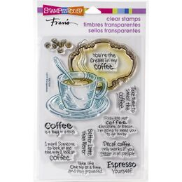 Stampendous Perfectly Clear Stamps - Coffee Frame SSC1334