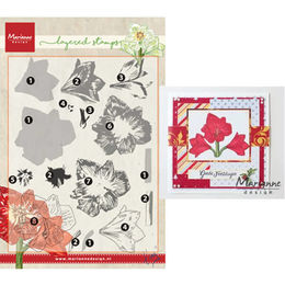 Marianne Design - Clear Layering Stamp - Tiny's Amaryllis TC0860