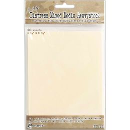 "Tim Holtz Distress Mixed Media HEAVYSTOCK 4.25"" x 5.5"" 20/Pkg TDA53835"