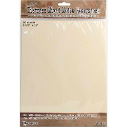 "Tim Holtz Distress Mixed Media HEAVYSTOCK 8.5"" x 11"" 10/Pkg TDA53842"
