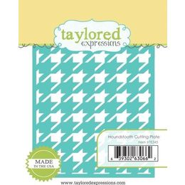 Taylored Expressions Dies -  Houndstooth Cutting Plate - TE345