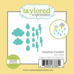 Taylored Expressions Little Bits Dies - Weather Confetti - TE568