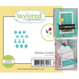 Taylored Expressions Little Bits Dies - Birthday Confetti - TE948