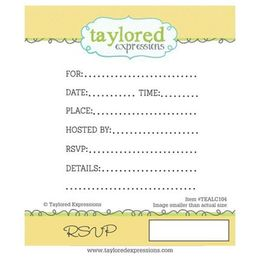 Taylored Expressions Stamps - RSVP - TEALC104