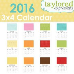 Taylored Expressions 2016 3x4 Calendar - TECAL04