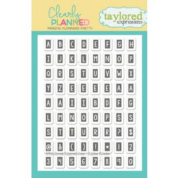 Taylored Expressions Planner Stamps - Clearly Planned - Alpha Blocks - TECP04