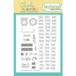 Taylored Expressions Planner Stamps - Clearly Planned - Time Will Tell - TECP10
