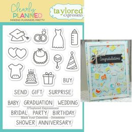Taylored Expressions Planner Stamps - Clearly Planned - Mark You Calendar - Occasions - TECP39
