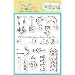 Taylored Expressions Planner Stamps - Clearly Planned - Show Me The Way - TECP40
