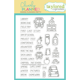 Taylored Expressions Planner Stamps - Clearly Planned - School Day TECP43