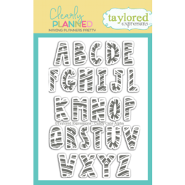 Taylored Expressions Planner Stamps - Clearly Planned - Candy Cane Alpha - TECP47
