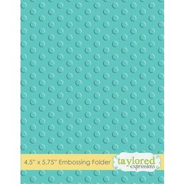 Taylored Expressions Embossing Folder -  Lots of Dots - TEEF04
