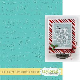 Taylored Expressions Embossing Folder - Sheet Music - TEEF06